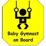 Baby gymnast on board