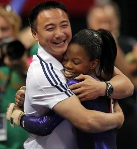 Liang Chow and Gabrielle Douglas