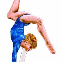 Drawing of Gymnast Olga Mostepanova