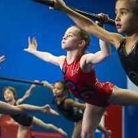 Gymnasts doing ballet