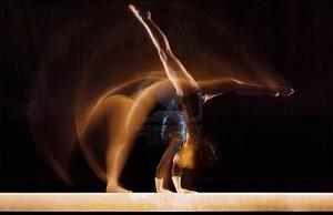 Cartwheel on Balance Beam
