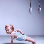 baby gymnast and rings